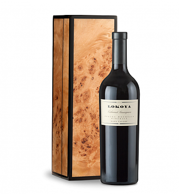 Wine Gift Boxes: Lokoya Spring Mountain Cabernet Sauvignon 2007 in a Handcrafted Burlwood Box