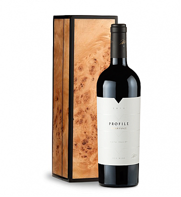 Wine Gift Boxes: Merryvale Profile 2010 in Handcrafted Burlwood Box