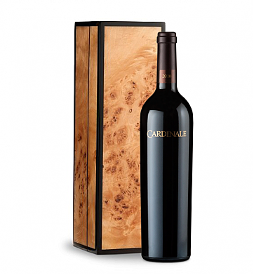 Wine Gift Boxes: Cardinale Cabernet Sauvignon 2010 in Handcrafted Burlwood Box