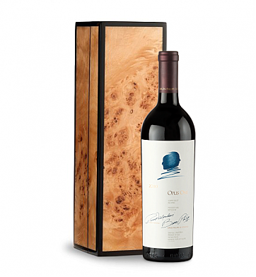 Wine Gift Boxes: Opus One 2010 in Handcrafted Burlwood Box