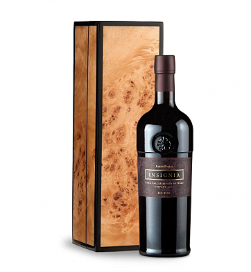Wine Gift Boxes: Joseph Phelps Insignia Red 2009 in Handcrafted Burlwood Box