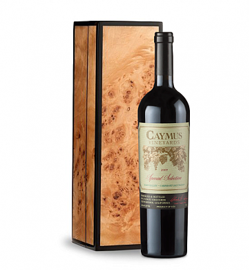 Wine Gift Boxes: Caymus Special Selection Cabernet Sauvignon 2009 in Handcrafted Burlwood Box