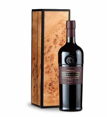 Wine Gift Boxes: Joseph Phelps Insignia Red 2011 in Handcrafted Burlwood Box