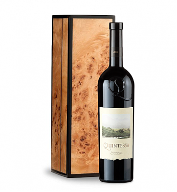 Wine Gift Boxes: Quintessa Meritage Red 2011 in Handcrafted Burlwood Box