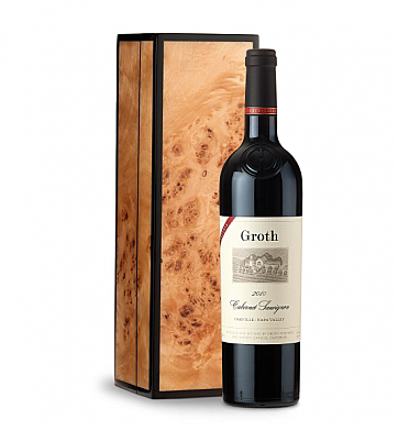 Wine Gift Boxes: Groth Reserve Cabernet Sauvignon 2009 in Handcrafted Burlwood Box