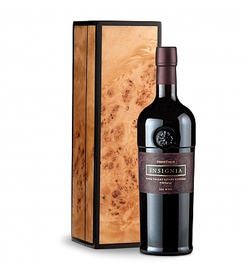 Wine Gift Boxes: Joseph Phelps Napa Valley Insignia Red 2012 in Handcrafted Burlwood Box