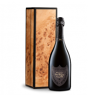 Wine Gift Boxes: Dom Perignon P2 1998 in Handcrafted Burlwood Box