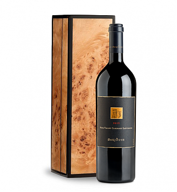Wine Gift Boxes: Darioush Signature Cabernet Sauvignon 2013 in Handcrafted Burlwood Box