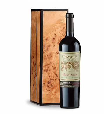 Wine Gift Boxes: Caymus Special Selection Cabernet Sauvignon 2013 in Handcrafted Burlwood Box