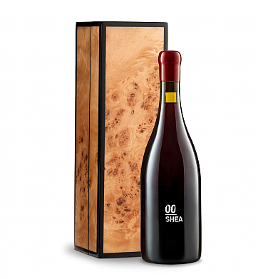 Wine Gift Boxes: 00 Shea Vineyard Pinot Noir 2014 in Handcrafted Burlwood Box