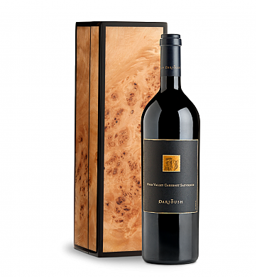 Wine Gift Boxes: Darioush Signature Cabernet Sauvignon 2014 in Handcrafted Burlwood Box