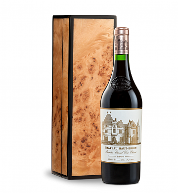 Wine Gift Boxes: Chateau Haut-Brion 2006 in Handcrafted Burlwood Box