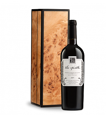 Wine Gift Boxes: The Epistle Reserve Cabernet Sauvignon in Burlwood Box
