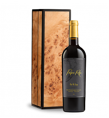 Wine Gift Boxes: Peregrine Ridge One Fell Swoop Cabernet Sauvignon in Burlwood Box