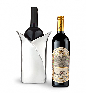 Wine Accessories & Decanters: Far Niente Cabernet Sauvignon with Luxury Wine Holder