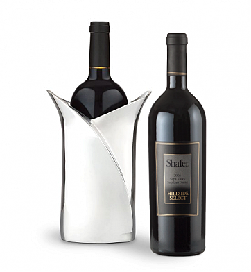 Wine Accessories & Decanters: Shafer Hillside Select 2008 Cabernet Sauvignon with Luxury Wine Holder