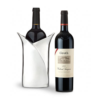 Wine Accessories & Decanters: Groth Reserve 2008 Cabernet Sauvignon with Luxury Wine Holder