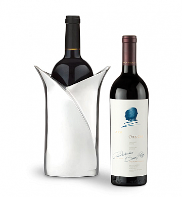 Wine Accessories & Decanters: Opus One 2009 with Luxury Wine Holder