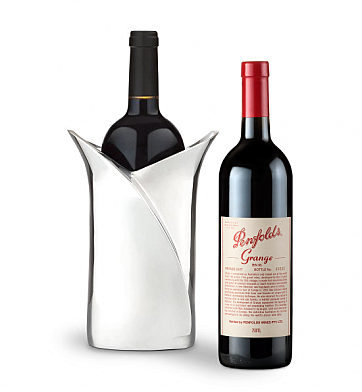 Wine Accessories & Decanters: Penfolds Grange 2007 with Luxury Wine Holder
