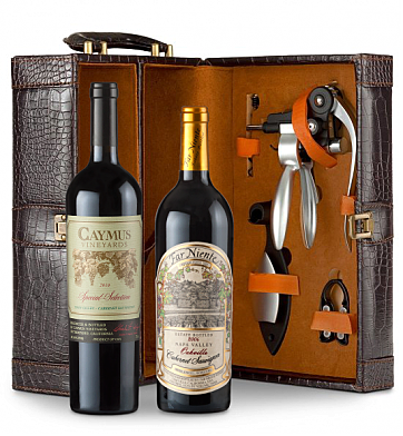 Wine Totes & Carriers: Far Niente Cabernet Sauvignon & Caymus Special Selection Connoisseur's Collection