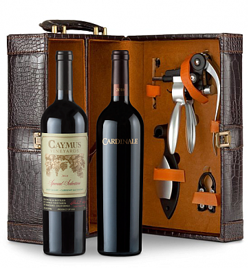 Wine Totes & Carriers: Cardinale Cabernet Sauvignon 2010 and Caymus Special Selection Cabernet Sauvignon 2010 Connoisseur's Collection