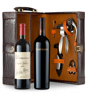 Wine Totes & Carriers: Cardinale Cabernet Sauvignon & Dominus Estate