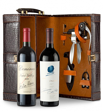 Wine Totes & Carriers: Dominus Estate 2008 & Opus One 2010 Connoisseur's Collection