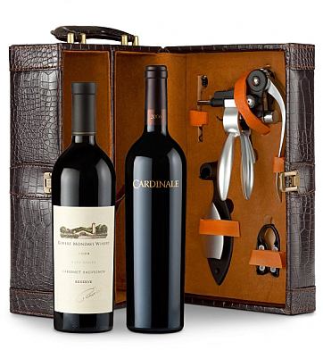 Wine Totes & Carriers: Robert Mondavi Reserve Cabernet Sauvignon & Cardinale Connoisseur's Collection