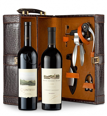 Wine Totes & Carriers: Robert Mondavi Reserve Cabernet Sauvignon 2009 & Quintessa Meritage Red 2009 Connoisseur's Collection
