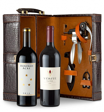 Wine Totes & Carriers: Verite La Joie Cabernet Sauvignon & Hundred Acre Cabernet Sauvignon Connoisseur's Collection