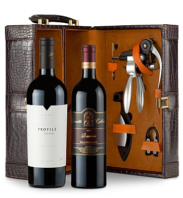 Wine Totes & Carriers: Merryvale Profile 2009 & Leonetti Reserve 2006 Connoisseur's Collection