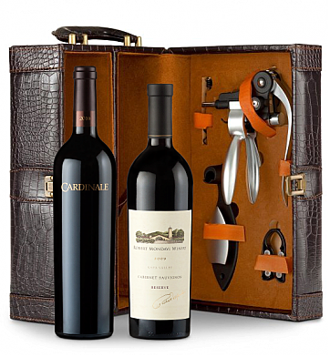 Wine Totes & Carriers: Robert Mondavi Reserve 2009 Cabernet Sauvignon & Cardinale 2010 Connoisseur's Collection
