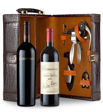 Wine Totes & Carriers: Cardinale Cabernet Sauvignon 2009 & Dominus Estate 2008 Connoisseur's Collection