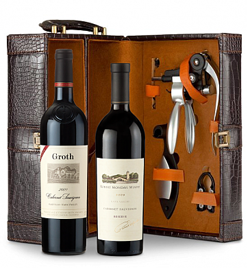 Wine Totes & Carriers: Robert Mondavi Reserve Cabernet Sauvignon 2009 and Groth Reserve Cabernet Sauvignon 2009 Connoisseur's Collection
