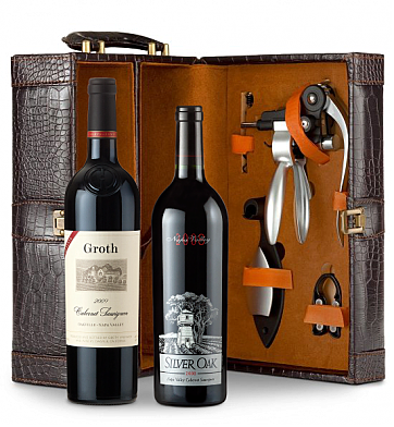Wine Totes & Carriers: Silver Oak Napa Valley Cabernet Sauvignon 2008 and Groth Reserve Cabernet Sauvignon 2009  Connoisseur's Collection