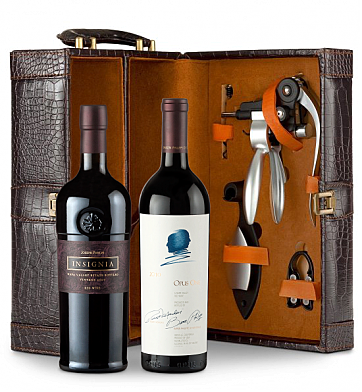 Wine Totes & Carriers: Opus One 2010 and Joseph Phelps Napa Valley Insignia Red 2009 Connoisseur's Collection