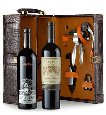 Wine Totes & Carriers: Caymus Special Selection Cabernet Sauvignon 2011 and Silver Oak Napa Valley Cabernet Sauvignon 2009 Connoisseur's Collection