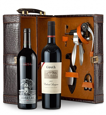 Wine Totes & Carriers: Silver Oak Napa Valley Cabernet Sauvignon 2009 and Groth Reserve Cabernet Sauvignon 2009  Connoisseur's Collection