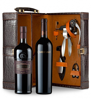 Wine Totes & Carriers: Cardinale Cabernet Sauvignon 2010 & Joseph Phelps Insignia 2011 Connoisseur's Collection