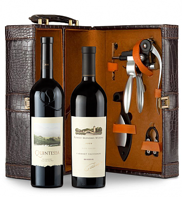 Wine Totes & Carriers: Robert Mondavi Reserve Cabernet Sauvignon 2009 & Quintessa Meritage Red 2010 Connoisseur's Collection