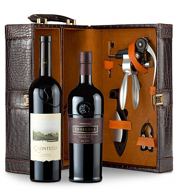 Wine Totes & Carriers: Joseph Phelps Insignia Red 2010 and Quintessa 2010 Connoisseur's Collection