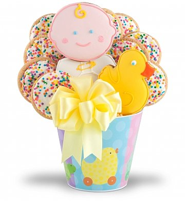 Cookie Gift Baskets: Fresh Baked Cookies To Celebrate Baby