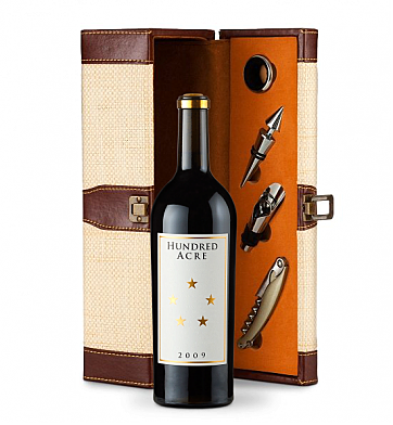 Wine Totes & Carriers: Hundred Acre Cabernet Sauvignon Wine Gift Set