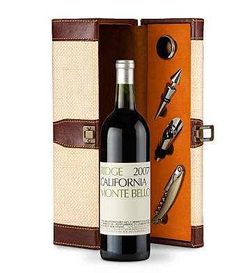 Wine Totes & Carriers: Ridge Monte Bello Wine Gift Set