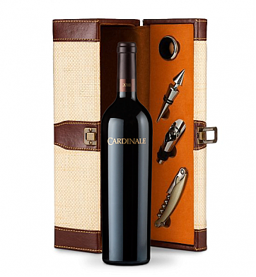 Wine Totes & Carriers: Cardinale Cabernet Sauvignon 2008 Wine Gift Set
