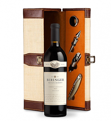 Wine Totes & Carriers: Beringer Private Reserve Cabernet Sauvignon 2010 Wine Steward Luxury Caddy