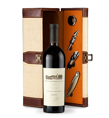 Wine Totes & Carriers: Robert Mondavi Reserve Cabernet Sauvignon 2011 Wine Steward Luxury Caddy