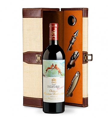 Wine Totes & Carriers: Chateau Mouton Rothschild 2012 Wine Steward Luxury Caddy