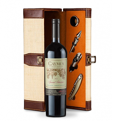 Wine Totes & Carriers: Caymus Special Selection Cabernet Sauvignon 2012 Wine Steward Luxury Caddy