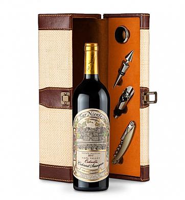 Wine Totes & Carriers: Far Niente Estate Bottled Cabernet Sauvignon 2012 Wine Steward Luxury Caddy